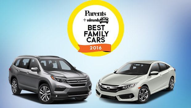 2016 Honda Civic and 2016 Honda Pilot Best Family Car Award Clifton