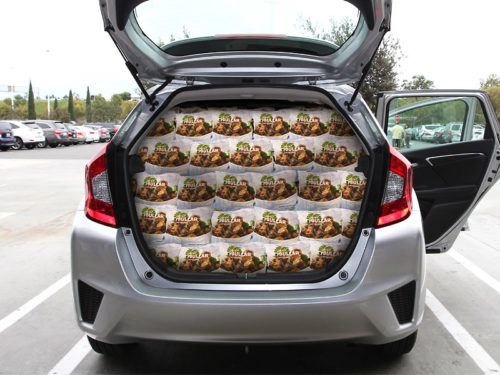 722 Bags of Ikea Swedish Meatballs in a Honda Fit Clifton
