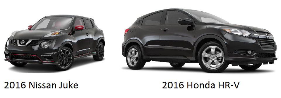 2016 honda hr v goes head to head with the nissan juke. Black Bedroom Furniture Sets. Home Design Ideas