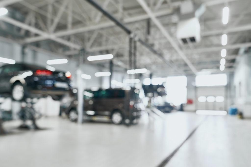 Cars in car shop